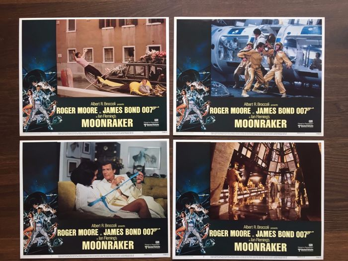 James Bond Moonraker 8 x USA Lobby Cards 1979 Roger Moore Lois Chiles Richard Kiel