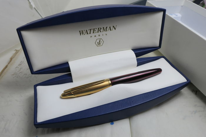 Vintage Waterman Edson ruby red fountain pen
