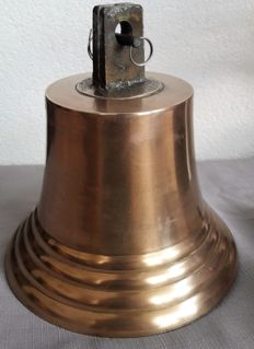Bronze ship bell with clapper