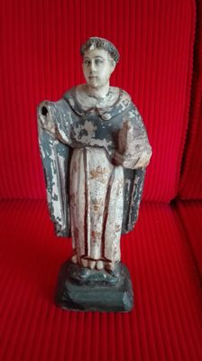Wooden statue of a Dominican monk, polychromed - Italy - 18th century
