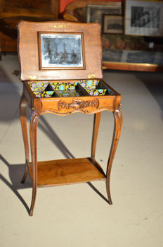 Sewing table in walnut wood - Louis Philippe - France - ca. 1880