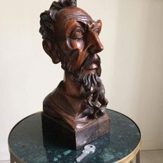 Charming wood carving of unknown artist. Originating from Spain, purchased in approx. 1965