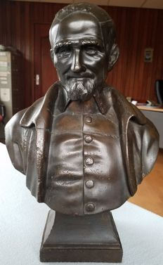 Antique bronze bust of a man - late 19th century