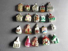 20 antique glass Christmas figures in good condition