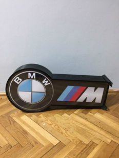 XXL BMW M Power- Illuminated Lightbox - 71 cm x 35 cm x 21 cm - Garage Lamp - Germany 1990s