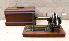 An antique Harris Family No. 2 sewing machine from the early 20th century