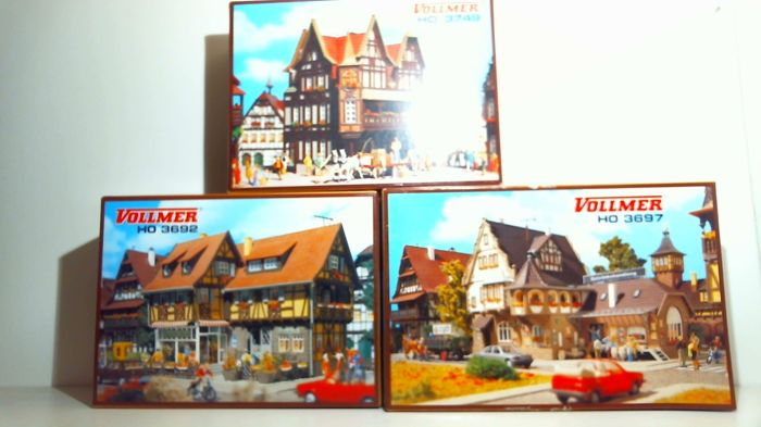 Vollmer H0 - 3692/3697/3749 - 3 building kits