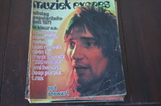 "Nice collection of ""Muziek expres"" containing issues of 1972, 1973, 1974 and 1975"