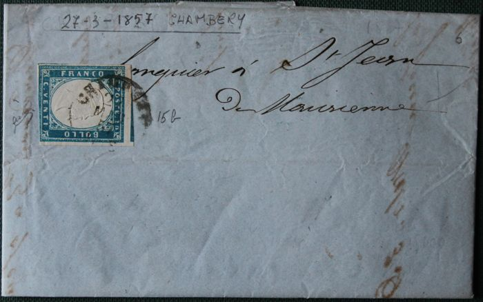 Sardinia and Papal State 1852/1868 - Lot of 6 letters