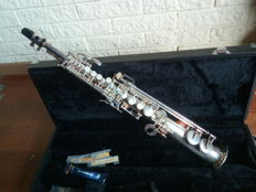 Silver plated Sopraninosax by the brand DC Pro II