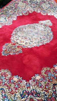 Exquisite Hand-knotted Noble Persian - Kerman 369cm x 271cm! Made of fine Cork wool!