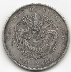 China, Chihli - 1 Dollar 1908 '34th year of Kunag Hsu Pei Yang' - silver