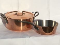 A nice saucepan and large cooking pot with lid __ Fabrication France