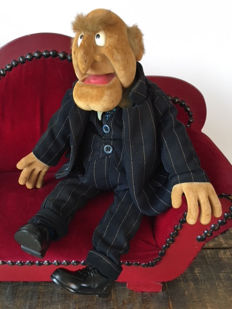 Statler Muppet on sofa, original The Jim Henson Company