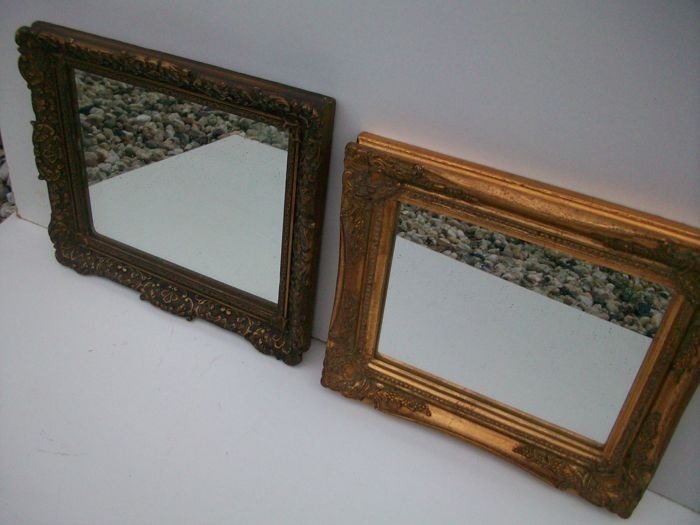2 decorative decorative frames incl. mirror