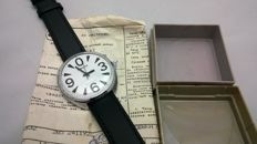 Vintage wrist watch Raketa Big ZERO with document and original box Brand Rocket was founded in 1961 in honor of Yuri Gagarin's flight into space