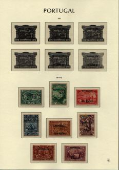Portugal, 1911/1931 -- Selection of series on album sheets