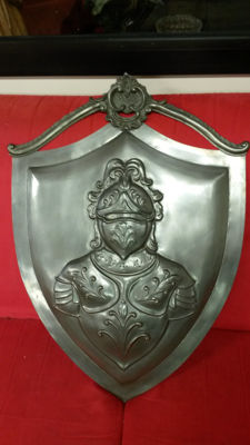 Large pewter coat of arms, 20th century