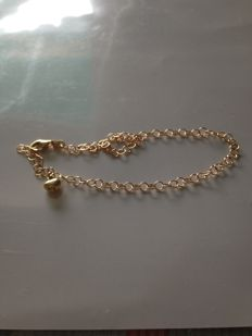18 kt yellow gold anklet - 24 cm