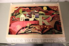 Manufacturer unknown - tapestry with depiction of a painting by Paul Klee