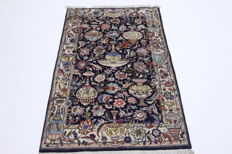 Rare Persian Kashmar carpet, vase pattern with genuine silk, 1.46 x 1.00, beautiful top condition, genuine oriental carpet