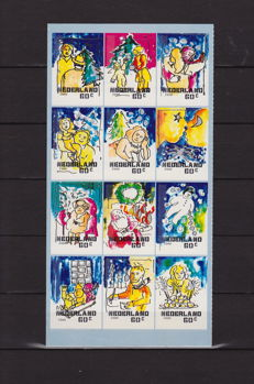Netherlands 2000 – December stamps, NVPH HBb 1931-50, panel from mailer completely unpunched