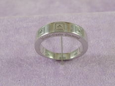 Ring in 925 silver with diamonds - 17 mm