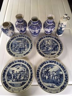 Delft blue - selection of 9 items