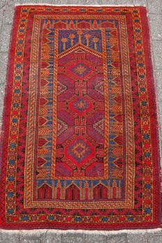Fine, hand-knotted, nomadic, Baluch prayer rug, 142 x 92 cm