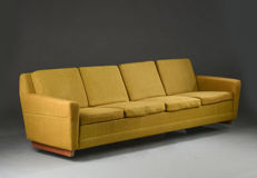 Unknown designer - Danish furniture producer - large vintage 4-seater sofa