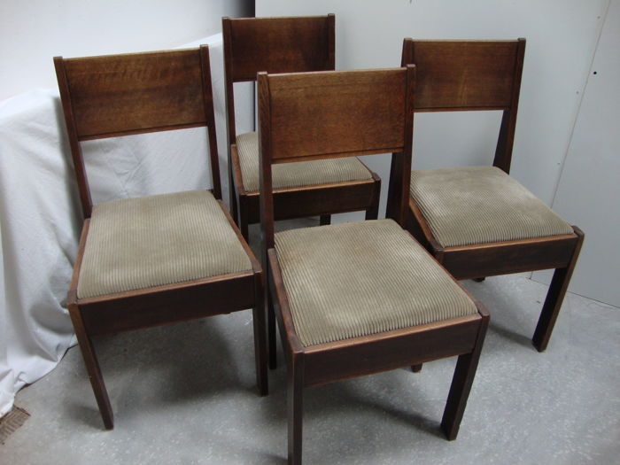 L.O.V. - Set of 4 Hague School dining chairs