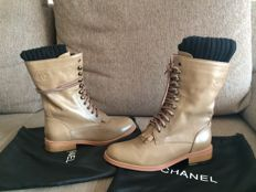 Chanel boots with leg warmers,new