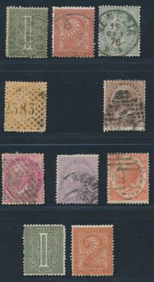 Italy Kingdom from 1863 - selection of stamps from various periods and local issue Aosta, Maccagno, Arona CLN