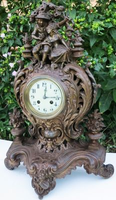 French iron table clock 19th century.