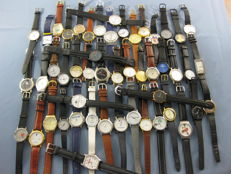 Large collection of 50 pieces of watches with advertising or company logo
