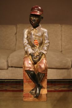 Magnificent handmade sculpture of a boarding school boy - USA - 1st half of the 20th century