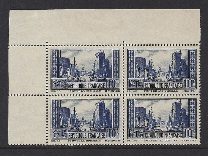 France 1929 - Monuments and sites - Yvert 261 in block of four