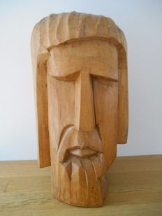 Wooden Christ Statue by Rutger Rosier (1937-2006), made of old oak
