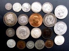 Portugal - 10 Travel up to 500 Travel 1854/1910 (21 different) w.o. 15x silver