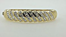 9.20 ct D/VVS princess diamond bangle/bracelet made of 18 kt white gold