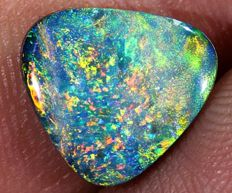 Lightning Ridge Opal Doublet - 10.5 x 10 x 2.8mm -  2.1 ct