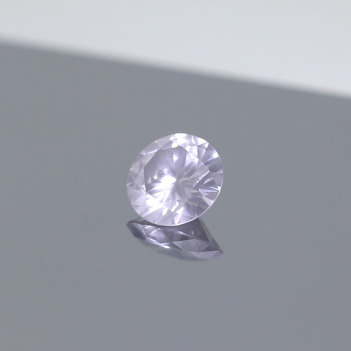 1.06 Natural Very Light Gray Round Brilliant cut diamond, GIA.