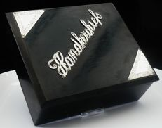 Silver Mounted Ebony Handkerchiefs Box, London 1920