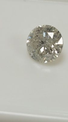 1.04 ct - Round Brilliant - White - G / SI2 With IGL certificate