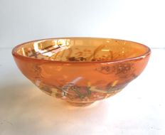 Dominique Marcade - Unique orange bowl/ signed