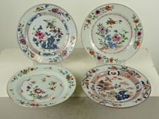 Four porcelain plates - China - 18th century