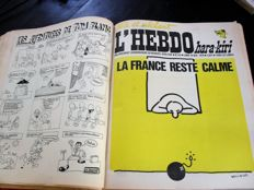 L'Hebdo hara-kiri. Issues 1-94 - 2 volumes - 1969/1970
