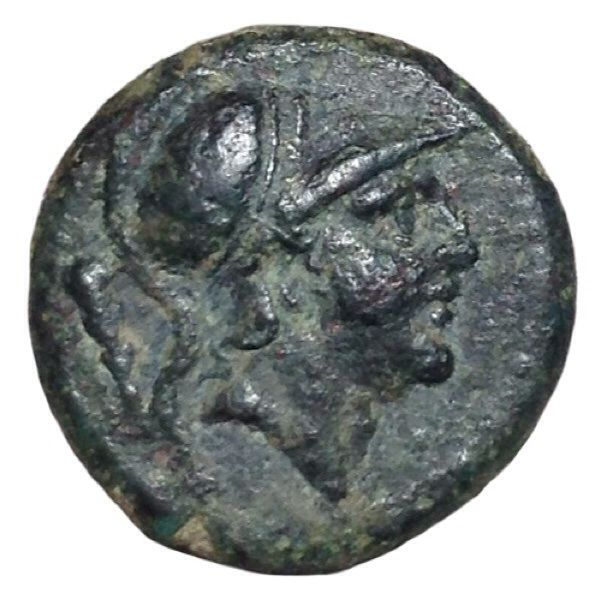 Romano Campanian Coinage - Æ Litra (15mm; 3,12g.), Rome mint ca. 230-226 BC - Head of Mars / Horse - Cr. 27/2; Rutter 315