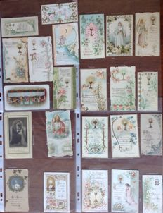 Lot of 47 religious pictures - France - 1900