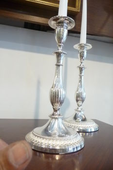 2 Beautiful silver plated candlesticks